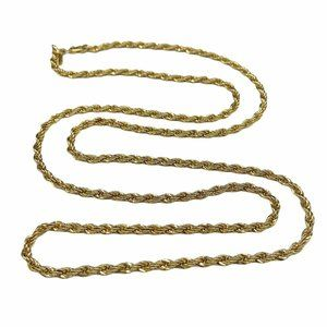Vintage MONET Gold Twisted Rope Chain Necklace